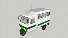 三轮车SU模型图片