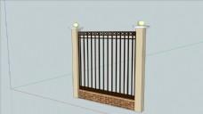 铁艺围栏SU模型图片