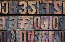 木质字母图片
