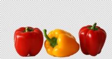 红色橙色大辣椒青椒食品图片