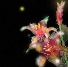 国潮鲜花元素图片