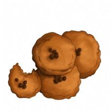 原创手绘饼干素材图片