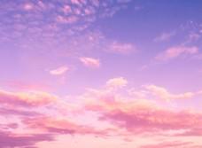 彩色云朵天空图片