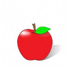 红色苹果矢量图图片