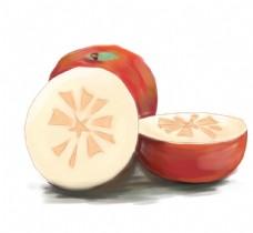 卡通冰糖心苹果图片