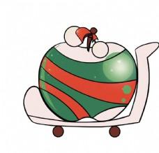 卡通手绘圣诞袜子苹果圣诞节平安图片