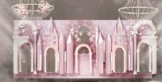 粉色城堡婚礼图片