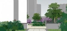 小区景观园林设计效果图图片