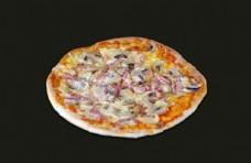 培根蘑菇披萨图片