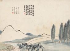 齐白石国画静园客话图图片