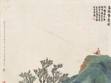 齐白石国画春瑦纸鸢图图片