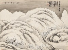 齐白石国画雪峰梅梦图图片