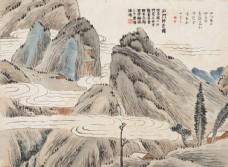 齐白石国画石门卧云图图片