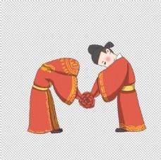 卡通新郎新娘PNG免扣素材图片