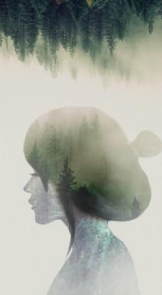 森系少女图片