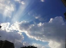 晴天天空蓝天白云天空景象图片