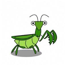 卡通螳螂图片