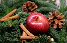 圣诞节苹果图片