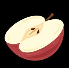 手绘卡通半个苹果图片
