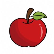 卡通红苹果素材图片