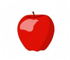 红色手绘卡通苹果装饰图片