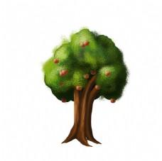 卡通手绘苹果树图片