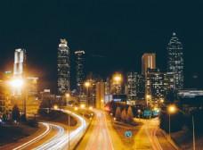 商业都市夜景图片