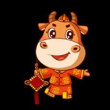 吉祥牛牛手绘喜庆牛过年图片