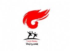 2008北京奥运会火炬传递标志图片