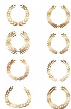 金色麦穗花纹图片