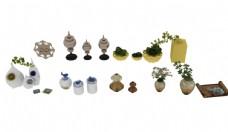 花瓶植物集合模型图片