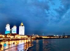 夜色海边图片