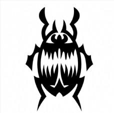 甲壳虫黑白图图片