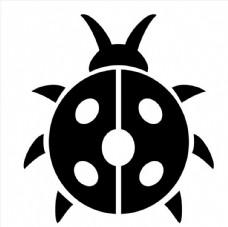 昆虫瓢虫矢量图图片