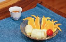 水果和茶图片