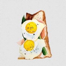 煎蛋土司图片