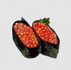 水彩寿司图片