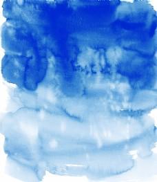 蓝色泼墨图片