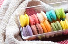 彩色蛋糕美食食物背景图片