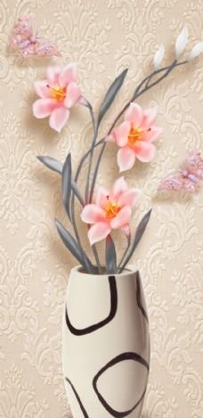 花瓶玄关装饰画图片