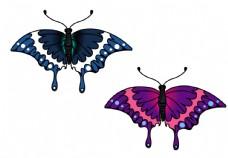 原创手绘蝴蝶png素材图片