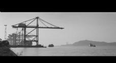 黑白海边摄影照片图片