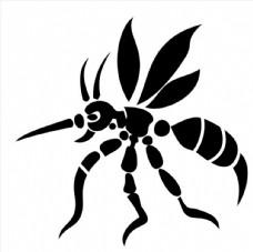 蚊子黑白图图片
