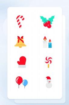 平安夜圣诞节扁平风拟物图标圣诞图片