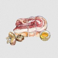 手绘五花肉图片