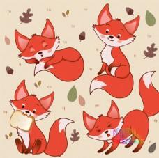 小狐狸狐狸背景火狐狸图片卡通