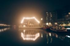 码头夜景图片