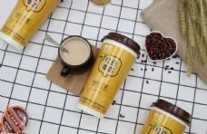 黄色妙恋奶茶图片