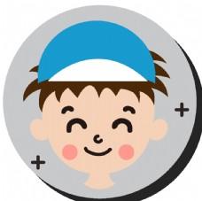 卡通运动男孩头像图片