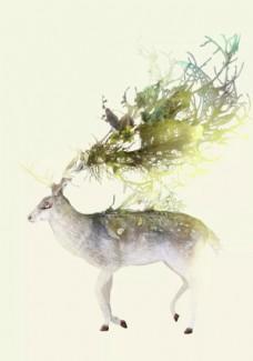 鹿元素图片